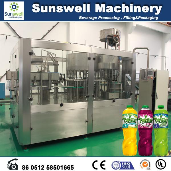 Automatic 3 In 1 Hot Filling Machine , PET Bottle Juice Filling Line