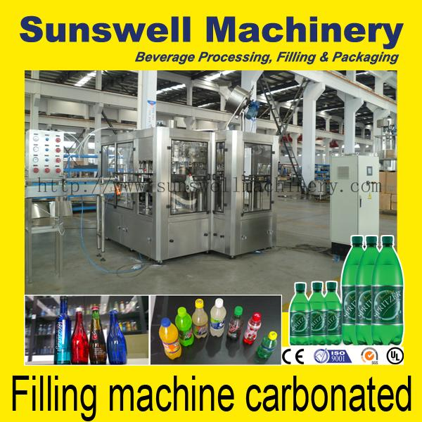 Horizontal Bottling Carbonated Filling Machine For Glass / PET Bottle