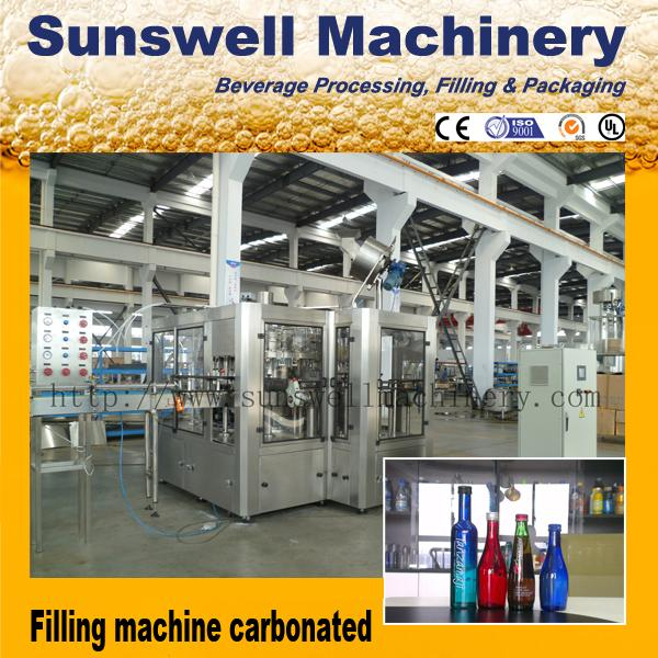 Automatic Beverage Carbonated Filling Machine Complete Drinking Line