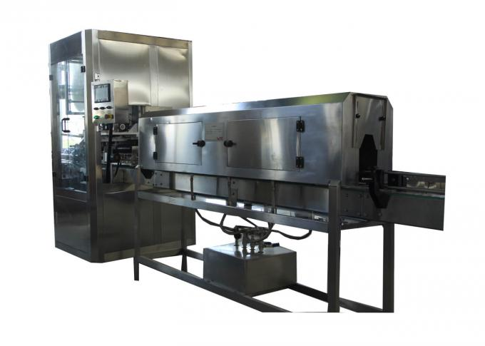 Water / Juice Bottle Labeling Machine , PVC Label Sleeve Shrink Labeling Machine