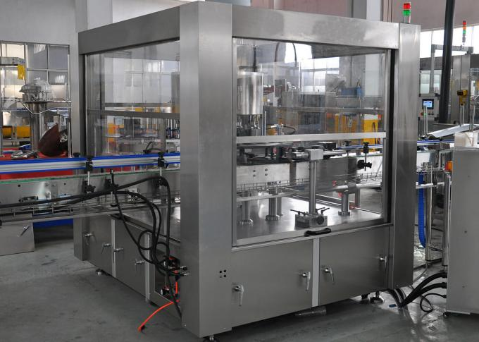 Rotary / Linear Hot Melt Glue Labeling Machine For Liquid Beverage Packaging Line