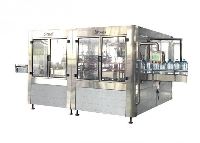 3 - In - 1 Water Filling Machines , Bottle Washing Filling And Capping Machine Fully Automatic