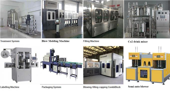CSD Beer Glass Bottle Machine Washing Filling Sealing 3 In 1 Monoblock Production Line