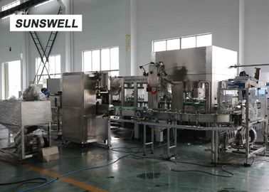 China Capacity 2000bph HDPE Bottle Filling Machine For Tea Drinks And Fruit Juice factory