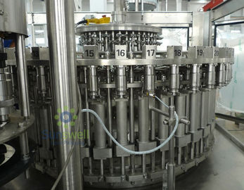 China 3-In-1 Automatic Juice Filling Machine 6000BPH / 500ML With Plastic Screw Cap supplier