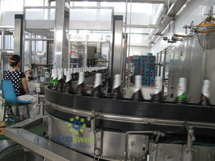 China Fully Automatic Beer Filling Machine Glass For Glass Bottle With 1500BPH - 16000BPH Capacity factory