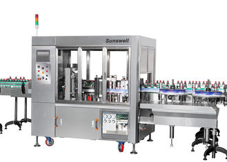 China Linear Type Round And Square Bottle Labeling Machine , Sticker Applicator Machine factory