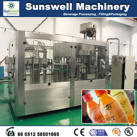 Automatic Fresh Fruit Juice Hot Filling Machine For Washing Filling And Capping