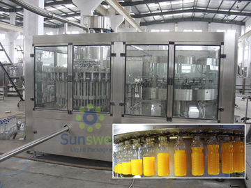 Stainless Steel Hot Filling Machine 3-in-1 Monoblock For 500ml Plastic Bottles