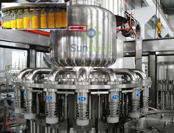 High Efficiency Hot Filling Machine 3-In-1 Monoblock For Fruit Juice / Beverage