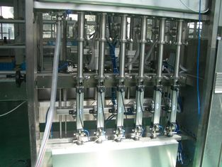 China 25 ~ 30 bpm Piston Filling Machine with 6 to 12 filling nozzles for Oil, Syrup & Detergent supplier