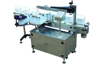 China Full Automatic Single Side Self adhesive Sticker Labeling Machine for flat bottle 220V factory