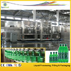 China Soft Drink Carbonated Filling Machine , Line PET Bottle Glass Bottle factory
