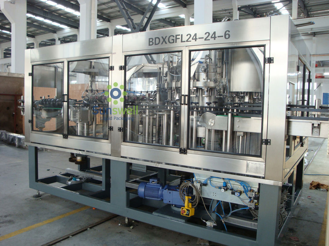 Multi-Head Automatic Beer Filling Machine 3-in-1 Glass Bottle With Rotary Structure supplier