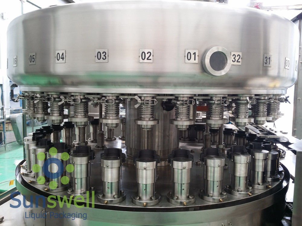 Powerful  Automatic Aluminum Can Filling Machine For Beverage Juice / Beer Soda