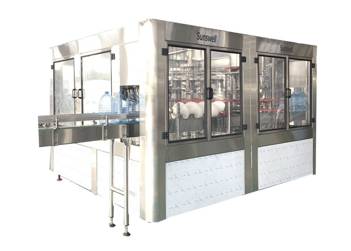 Auto 3L / 10L / 15L Bottling Water Filling Machines , Rinsing Filling Capping Machine