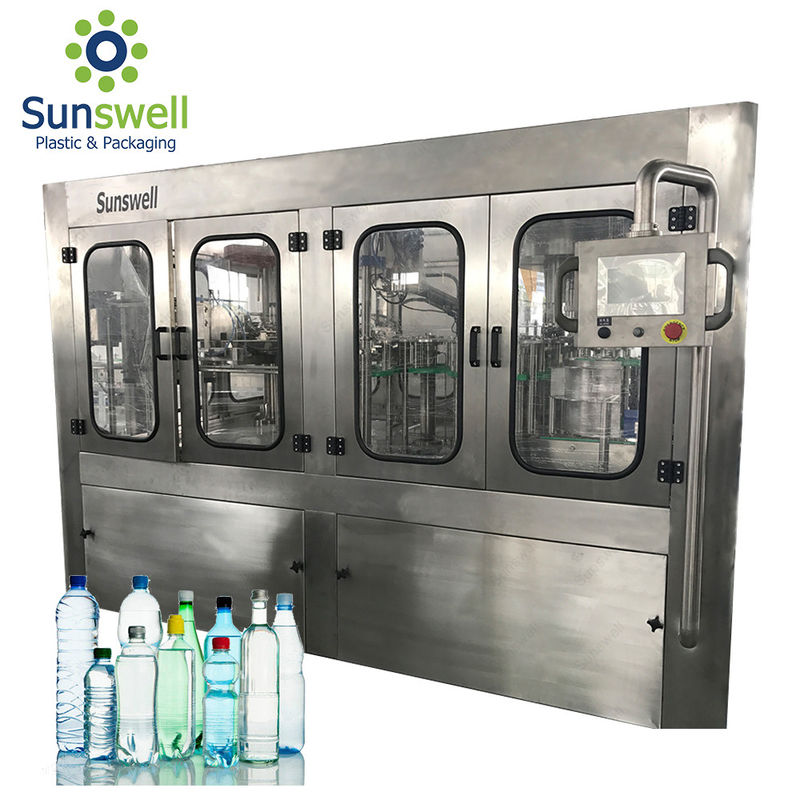 Rotary Water Filling Machines 36000BPH High Capacity Liquid Bottled Plant