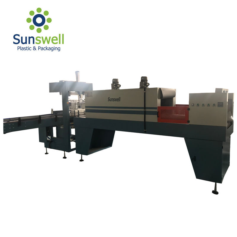 SGS Shrink Packaging Equipment , Shrink Film Wrapping Machine For Bottled Water