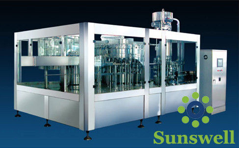 3-In-1 Tea Drink Bottle Filling Machine Automatic With Washing / Filling / Capping supplier