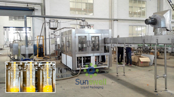 Plastic Bottle Hot  Fruit Juice Filling Machine With 6 Head supplier