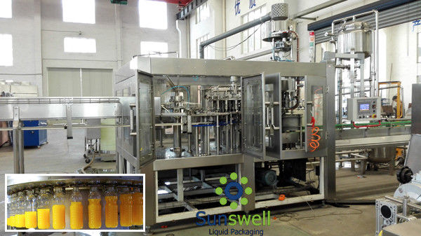 3 In 1 Juice Filling Machine Automatic With Water Treatment Line supplier