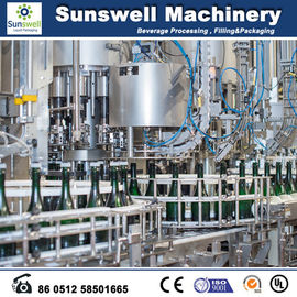 Glass Bottle Beer Production Line Champagne Filling Machine