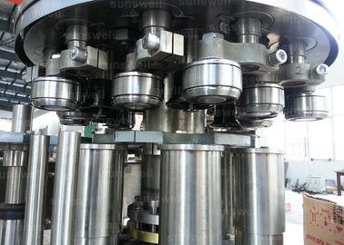 China can filling line and seaming carbonated beverage beer, CSD 40 heads Aluminum Can Filling Machine factory