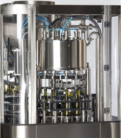 Glass Bottle Beer Filling Machine 3 In 1 Mono-Block With Rotary Rinser