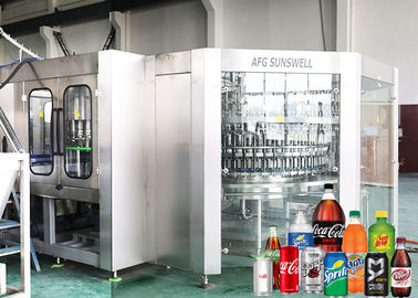 Auto Carbonated Filling Machine Bottled Cola Soft Drink Production Line