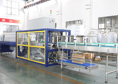 China Water Juice Bottle Shrink Packaging Equipment Cardboard Trayer Shrink Sleeve Wrap factory
