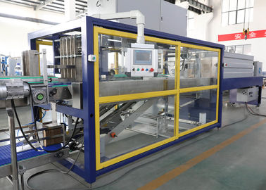 China Liquid Bottle Cardboard Tray Shrink Packaging Equipment For Beverage Line factory