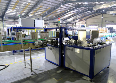 China High Speed Food Beverage Carton Caser Automatic Box Packing Machine For Bottles factory