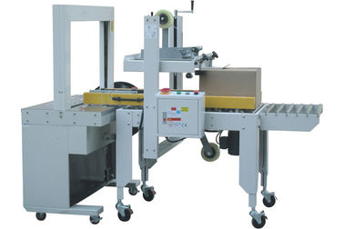 China Carton Bottom Sealing Machine & Top Sealing Strapped Machine For Beverage Package factory