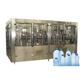 China Rotary Type 3 In 1 Big Bottle Filling Machine For Non Gas Liquid With Automatic Control factory