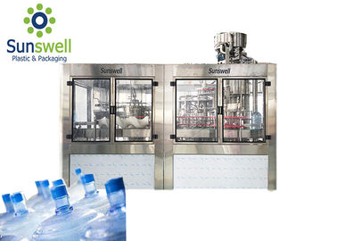 China Rotary PET Bottle Filling Machine Mineral Water Rinsing Washing And Capping factory