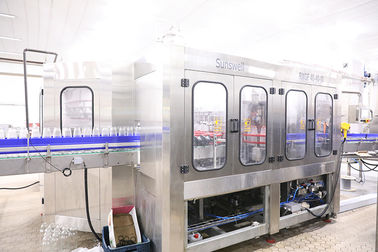 China 3 In 1 Automatic Glass Bottled Juice Production Line Washing Filling Sealing Capping factory
