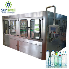China 14 Heads Rotary Drinking Water Rinsing Filling Capping And Labeling Product Line factory
