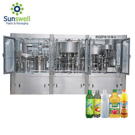 China Advanced Technology Juice Filling Machine Rotary Washer Filler Capper 3 In 1 Monoblock factory