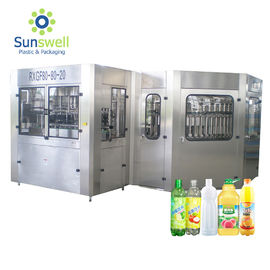China 5000 BPH  Bottled Hot Filling Machine Beverage Or Juice Rinsing Sealing 3 In 1 Monoblock factory