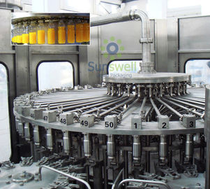 Pet Bottled Juice Filling Machine Automatic For Apple / Orange Juice Plant
