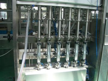 China 25 ~ 30 bpm Piston Filling Machine with 6 to 12 filling nozzles for Oil, Syrup & Detergent factory