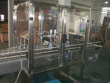 China Piston Filling / filler Machine with Blocked nozzles for Liquid Bottling of oil, detergent factory