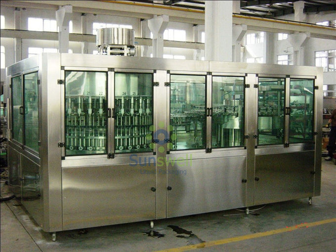 Water Filling Machines With 16 Filling Heads , 3.5kw Power