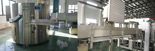 HDPE Bottle Juice Filling Equipment With Aluminum Foil Filling Used In Yoghurt