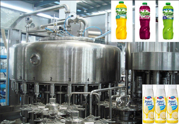 High Pressure Hot Filling Machine , Glass Bottled Juice Production Machine